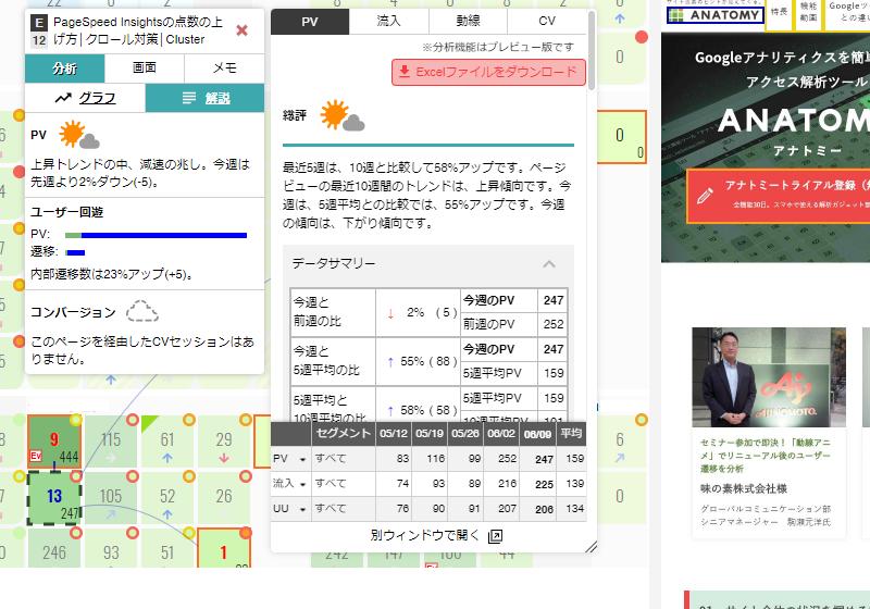 アクセス解析&SEO分析ツール「アナトミー」のページ解説